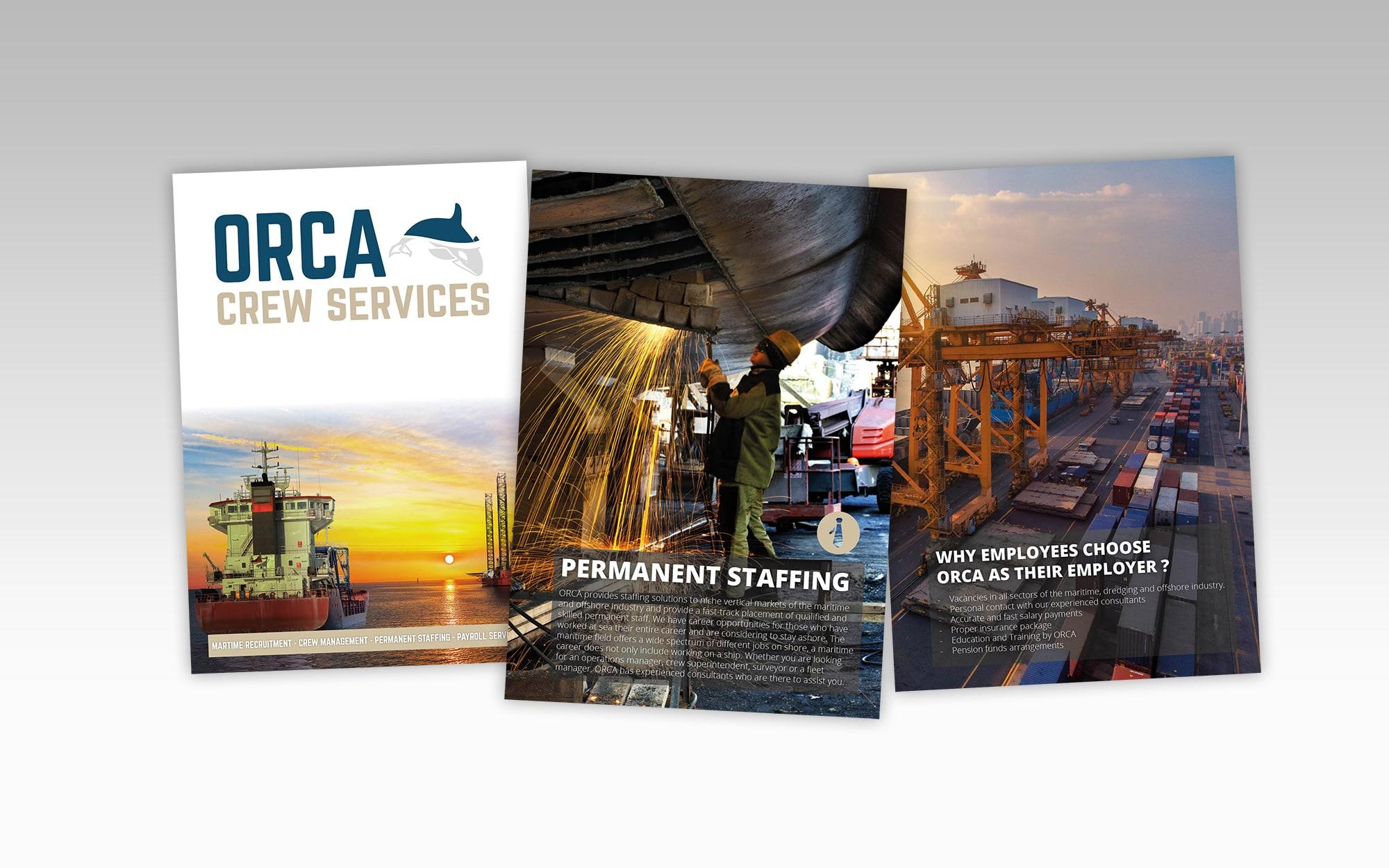 Orca Crew Services, folder, drukwerk
