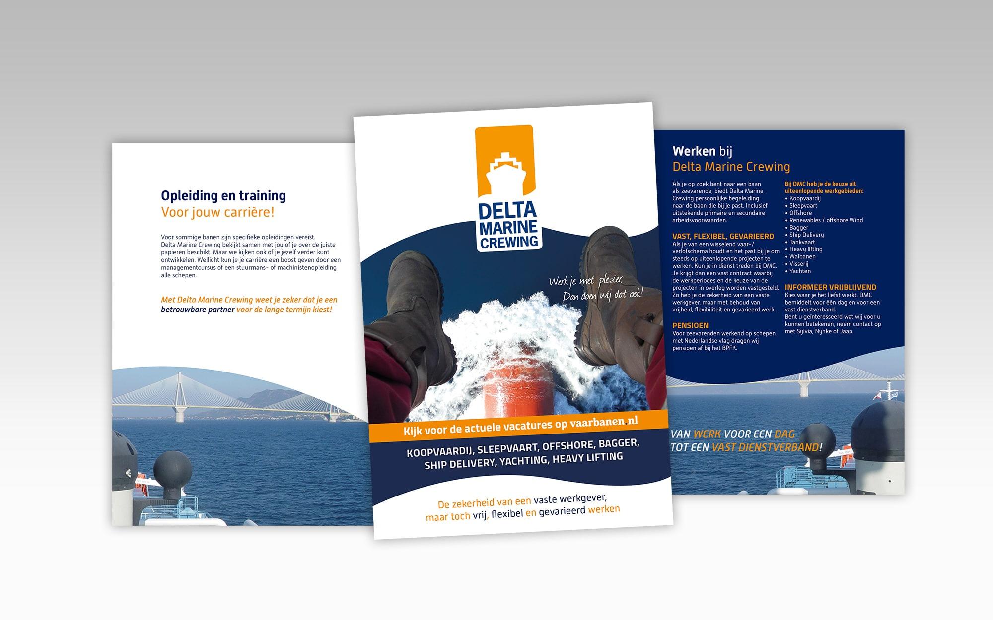 Delta Marine Crewing folder, drukwerk