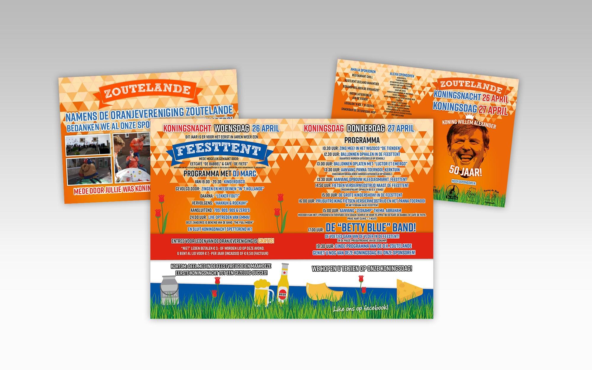 Oranjevereniging Zoutelande, Koningsdag flyer