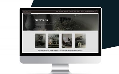 Nieuwe webshop voor Sfeerthuys!