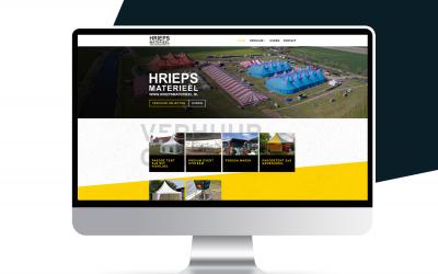 Nieuwe website voor Hrieps Materieel