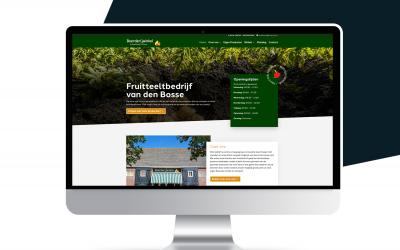 Nieuwe website van de Bosse Fruit!